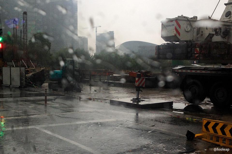 钱江新城地已湿