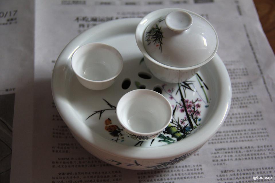 小巧的旅行茶具