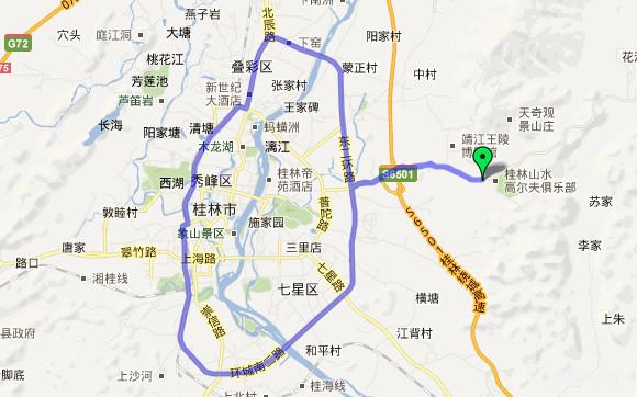 桂林环城路线