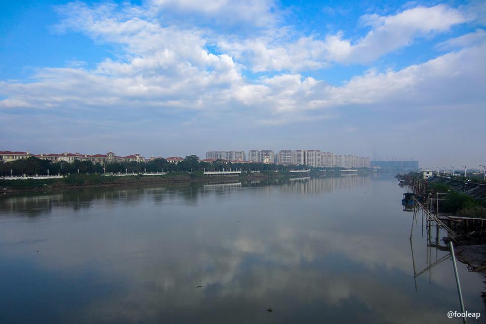金津大桥往西望