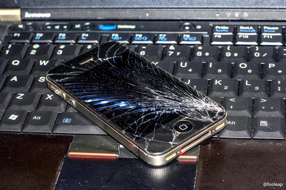 摔坏屏幕的 4S