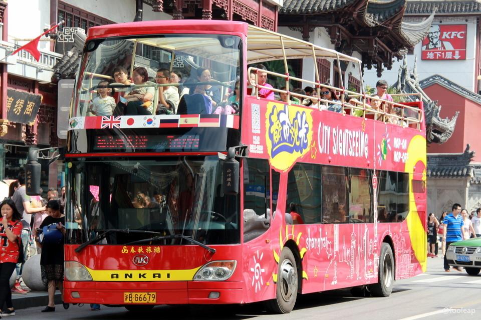 上海双层巴士,敞篷