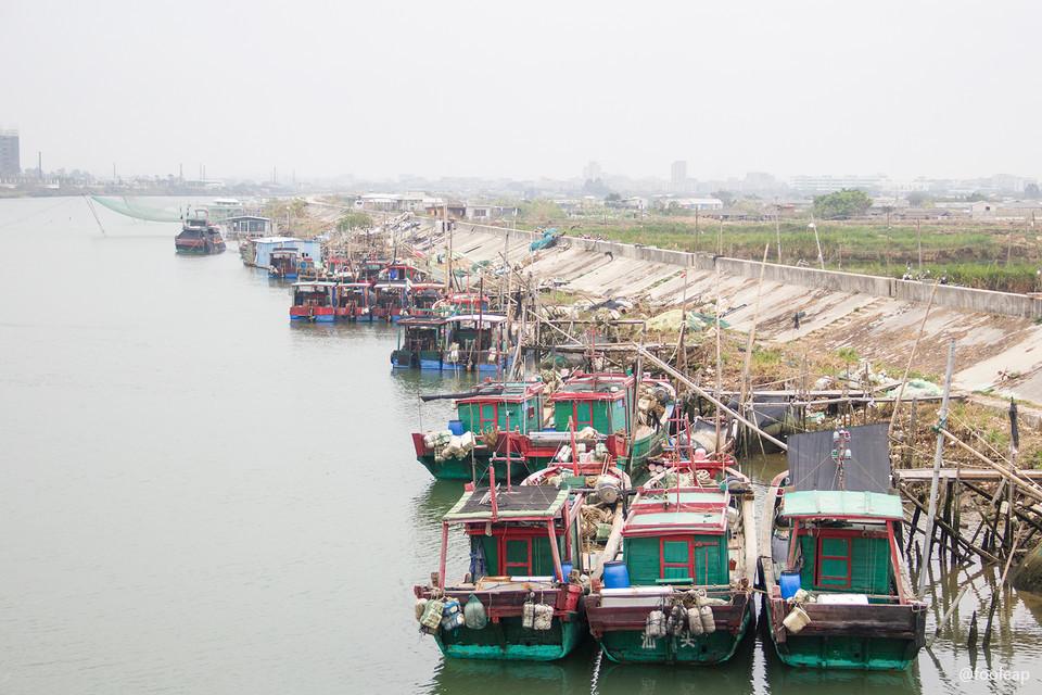 新津河的渔船