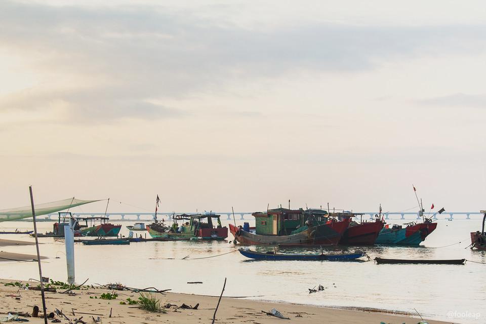 渔船以及南澳大桥