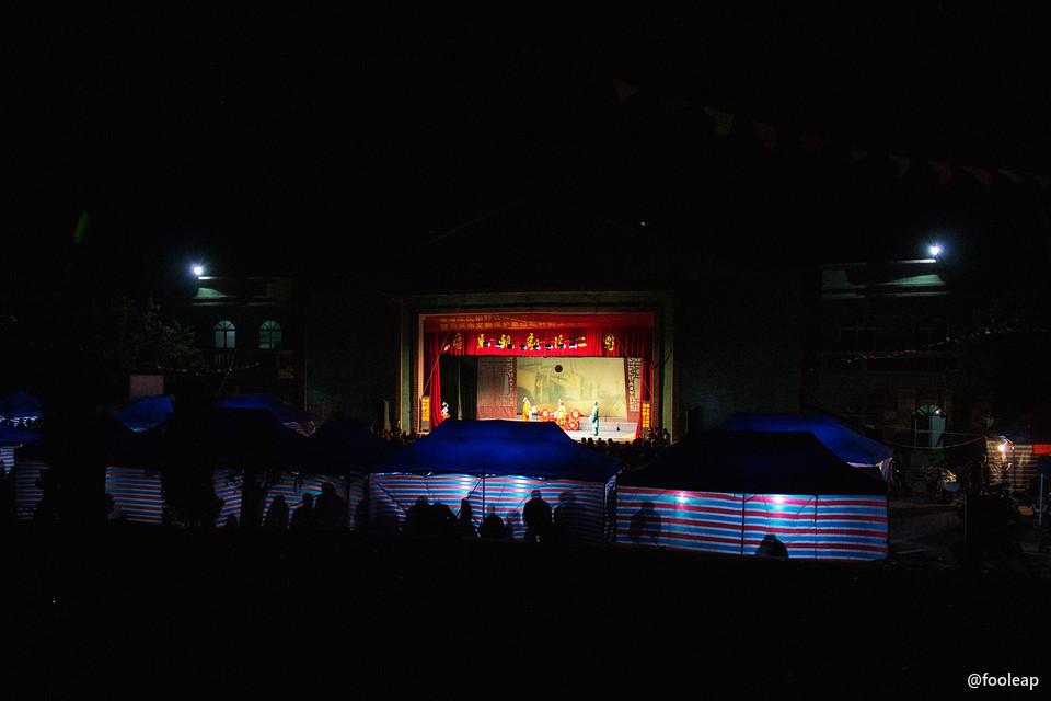 正月初二晚上的戏台