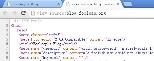 Chrome 新标签页显示源代码